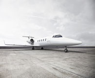 Plane Flight. Private Jet on a runway Royalty Free Stock Photography