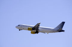 Plane Flying. Royalty Free Stock Photography