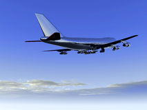 Plane Flying 29. A plane flying high in the sky Stock Photos