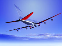 Plane Flying 53 Royalty Free Stock Photo