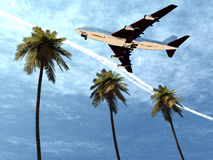 Plane Flying 8 Stock Photo
