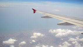 The plane flying in the air and cloud movements stock video footage
