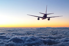 Free Plane Flying Away In The Sky Stock Photo - 58691730