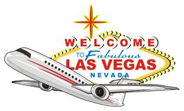 Las vegas and airplene Stock Photography