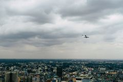 View over Nairobi, Kenia, continent of Africa on a cloudy day stock photos