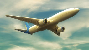 Plane flying Stock Image