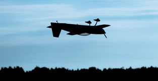 Plane Flying Upside Down Royalty Free Stock Image