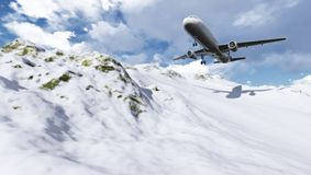 Plane flying Stock Images