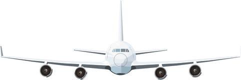 Plane with four turbines Stock Photo