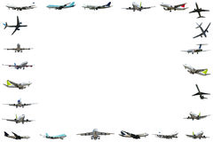Plane frame isloated on white background stock images