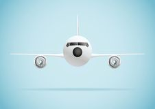 Plane in front Royalty Free Stock Photography