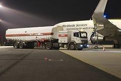 Plane fuel service Stock Image
