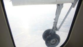 Plane gear stock footage