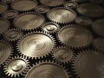 Plane of gears. Stock Photography
