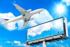 Plane and Giant Poster stock photography