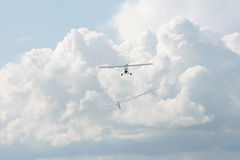 Plane and glider Royalty Free Stock Photos