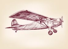 Plane  hand drawn vector llustration Royalty Free Stock Photography