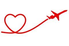 Plane heart Royalty Free Stock Photos