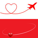 Plane and Heart Royalty Free Stock Photo