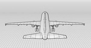 Plane hidden line Royalty Free Stock Photography