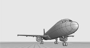 Plane hidden line Stock Photography