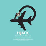 Plane Hijack Concept Abstract Design Royalty Free Stock Photography