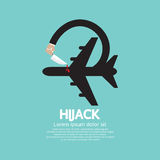 Plane Hijack Concept Abstract Design Stock Photos