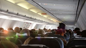 The plane hit the turbulence zone, a first-person view stock video footage