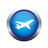 Plane icon Royalty Free Stock Photography