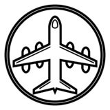 Plane icon, aircraft vector icon stock illustration