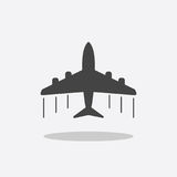 Plane icon. Airplane flat vector illustration.  Stock Photo