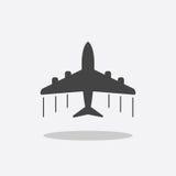 Plane icon. Airplane flat vector illustration Stock Photo