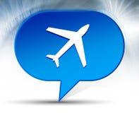 Plane icon blue bubble background vector illustration