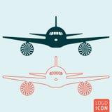 Plane icon  Royalty Free Stock Photo