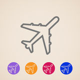 Plane icons Stock Photography