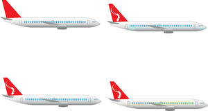 Plane illustration with different figures on it Royalty Free Stock Image