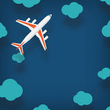 Plane illustration with a place for your text in cartoon style Stock Images