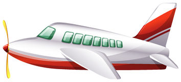 A plane. Illustration of a plane on a white background Royalty Free Stock Image