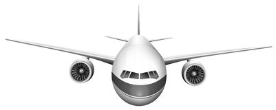 A plane. Illustration of a plane on a white background Stock Image