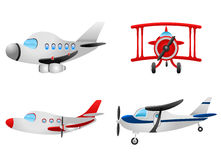 Plane illustrations vector Stock Images