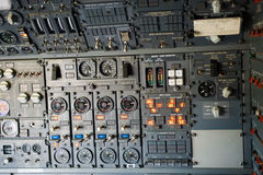 Plane instrument panel Royalty Free Stock Photography