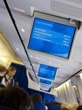 Plane interior Royalty Free Stock Photography