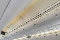 Plane Interior Perspective View Royalty Free Stock Image