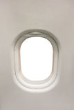Plane interior window as template Royalty Free Stock Photos