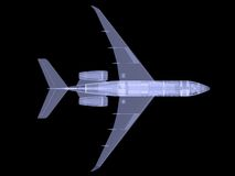 Plane with internal equipment. X-ray image Royalty Free Stock Photos