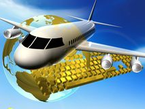 Plane and internet Stock Images
