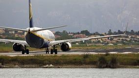 Plane at Ioannis Kapodistrias airport , Corfu , Greece Royalty Free Stock Image