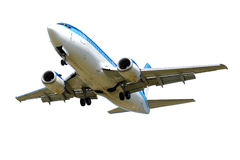 Plane isolated on a white background Stock Photo