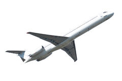Plane isolated on a white background Royalty Free Stock Photo