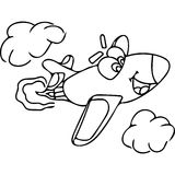 Plane kids coloring pages Stock Images